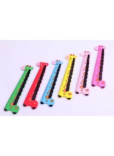 Learning Toys 6'lı Ahşap Zürafa Cetvel Seti Renkli